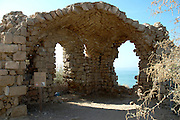 Structure in the old Ashkelon port, Israel<br /> Ashkelon is built upon the ruins of past civilizations. This was one of five Philistine city-states. The city also plays a role in biblical history as the place where Delilah cut Samson's hair to sap his strength. Ashkelon was also a great trading center because it lay along the Via Maris, the route linking Egypt with Syria and Mesopotamia. The city became a Christian city in the Byzantine period and was captured by the Muslims in 638 C.E. The Crusaders came next in 1153, but were defeated by Saladin. Richard the Lion Heart led the Crusaders back, but they were eventually driven out in 1280 by Sultan Baybars. The city was then abandoned until 1948 when the Jews of the new State of Israel began to rebuild it.