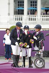 Näpel, Britta;<br /> Baker, Natasha;<br /> Trabert, Angelika, <br /> London Paralympics 2012<br /> Grade II<br /> © www.sportfotos-lafrentz.de/ Stefan Lafrentz