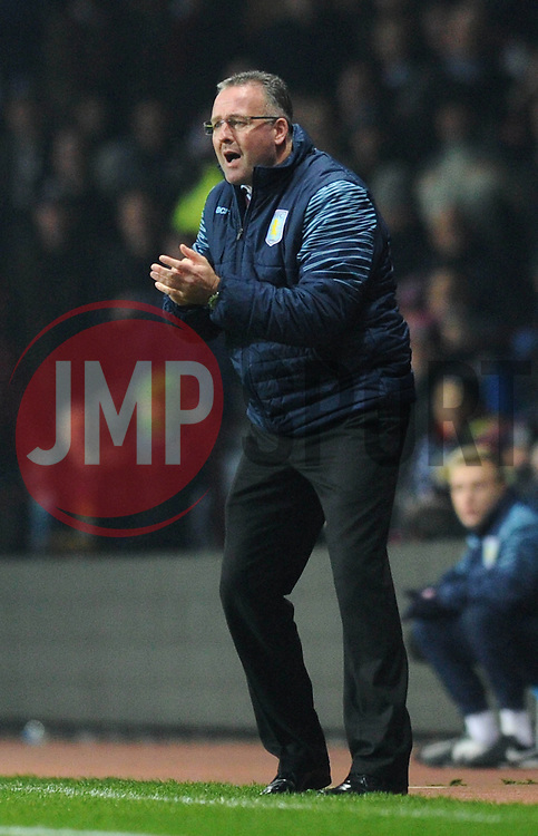 Aston Villa Manager, Paul Lambert - Photo mandatory by-line: Dougie Allward/JMP - Mobile: 07966 386802 - 24/11/2014 - SPORT - Football - Birmingham - Villa Park - Aston Villa v Southampton - Barclays Premier League