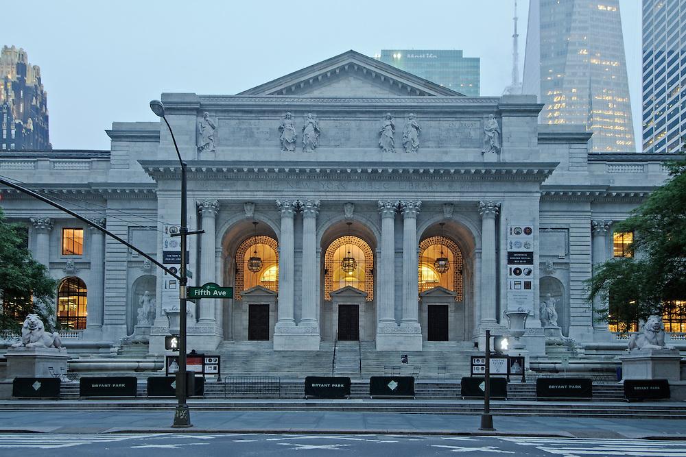 New York Public Library, architect, Carrere & Hastings , 5th Avenue, Manhattan, New York City, New York, USA
