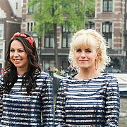 NLD/Amsterdam/20140430 - Clipopname K3 'Drums gaan boem', Kristel Verbeke en Josje Huisman