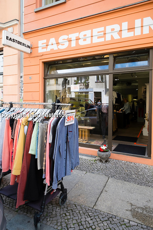 Small independent shop called Eastberlin  in Mitte district of Berlin Germany