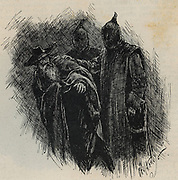 Spanish Inquisition - late 15th century.  Spanish Jew arrested  by officers of the Inquisition. Egraving 1891.