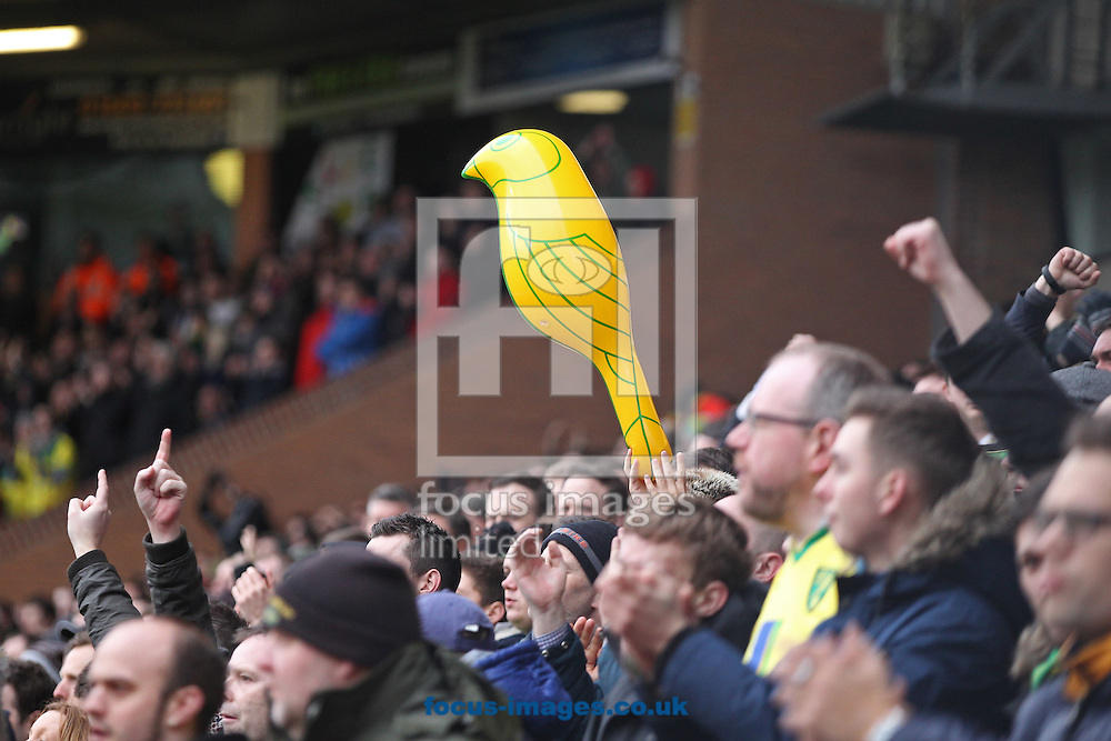The Norwich fans during the Sky Bet Championship match at Carrow Road, Norwich<br /> Picture by Paul Chesterton/Focus Images Ltd +44 7904 640267<br /> 21/03/2015