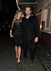 Suki Waterhouse and Bradley Cooper enjoy double dinner date with Sienna Miller and Tom Sturridge at the J Sheekey restaurant in London, UK. 15/09/2014<br />