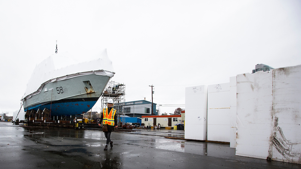 Point Hope Shipyard in Victoria British, Columbia Canada on October 26, 2016.