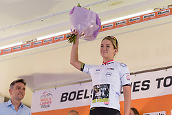 Karlijn Swinkels retains the youth jersey at Boels Rental Ladies Tour Stage 4 a 121.4 km road race from Gennep to Weert, Netherlands on September 1, 2017. (Photo by Sean Robinson/Velofocus)