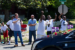 The funeral procession for boxing legend Muhammad Ali, a Louisville native, processed throughout Louisville including a stop by his childhood home on Grand Avenue, Friday, June 10, 2016 at Muhammad Ali Funeral Procession in Louisville.