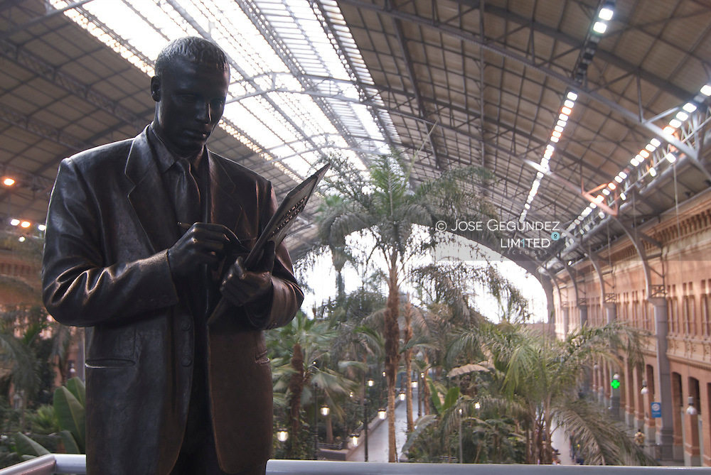 Estaci&oacute;n de Atocha Renfe. Jardin tropical.<br />
