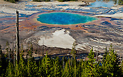 Tourists at Great Prismatic Spring, Yellowstone National Park, WY, on Sept. 7, 2012.  (Photo by Aaron Schmidt © 2012)