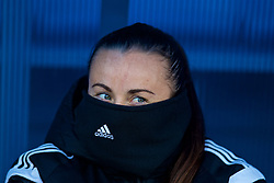 SAINT PETERSBURG, RUSSIA - Monday, October 23, 2017: Wales' Natasha Harding during a training session at the Petrovsky Minor Sport Arena ahead of the FIFA Women's World Cup 2019 Qualifying Group 1 match between Russia and Wales. (Pic by David Rawcliffe/Propaganda)
