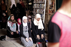 Despite Benjamin Netanyahu's decision to remove the metal detector gates, Islamic leaders called on Muslims to boycott the Esplanade of the Mosque (or Haral el-Sherif). Then people carry on praying in the surrounding streets. Jerusalem Old City, Israel, on July 25, 2017. Photo by Car/AND/ABACAPRESS.COM