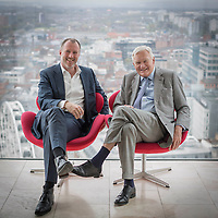 15/04/15 Manchester - Michael Oglesby , chairman of Bruntwood Group and his son Chris CEO in the City Tower Manchester