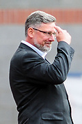 Think about it. Craig Levein during the Ladbrokes Scottish Premiership match between Heart of Midlothian and Celtic at Tynecastle Stadium, Gorgie, Scotland on 11 August 2018.