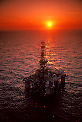 Stock photo of a semi-submersible rig off of the Gulf of Mexico