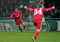 Fotball<br /> Tyskland<br /> 02.11.2010<br /> Foto: Witters/Digitalsport<br /> NORWAY ONLY<br /> <br /> Jubel 0:1 v.l. Torschuetze Nacer Chadli, Thilo Leugers (Enschede)<br /> Champions League, Gruppenphase, SV Werder Bremen - Twente Enschede 0:2