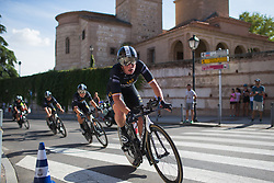 Kirsten Wild (NED) of Wiggle High5 Cycling Team leans into the final corner on Stage 1 of the Madrid Challenge - a 12.6 km team time trial, starting and finishing in Boadille del Monte on September 15, 2018, in Madrid, Spain. (Photo by Balint Hamvas/Velofocus.com)