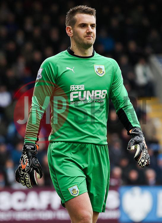 Burnley Goalkeeper Tom Heaton - Photo mandatory by-line: Matt McNulty/JMP - Mobile: 07966 386802 - 28/02/2015 - SPORT - Football - Burnley - Turf Moor - Burnley v Swansea City - Barclays Premier League