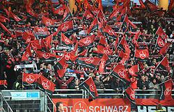 """08.03.2014, easyCredit Stadion, Nuernberg, GER, 1. FBL, 1. FC Nuernberg vs SV Werder Bremen, 24. Runde, im Bild Choreographie der FCN-Fans im Rahmen der Aktion """"Ich bereue diese Liebe nicht"""" vor dem Spiel gegen den SV Werder Bremen // during the German Bundesliga 24th round match between 1. FC Nuernberg and SV Werder Bremen at the easyCredit Stadion in Nuernberg, Germany on 2014/03/08. EXPA Pictures © 2014, PhotoCredit: EXPA/ Eibner-Pressefoto/ Merz<br /> <br /> *****ATTENTION - OUT of GER*****"""