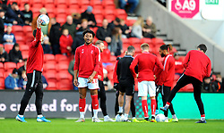 Antoine Semenyo of Bristol City prior to kick-off-Mandatory by-line: Nizaam Jones/JMP - 18/01/2020 - FOOTBALL - Ashton Gate - Bristol, England - Bristol City v Barnsley - Sky Bet Championship