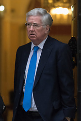 Downing Street, London, February 11th 2016. Defence Secretary Michael Fallon leaves the weekly cabinet meeting. <br /> ©Paul Davey<br /> FOR LICENCING CONTACT: Paul Davey +44 (0) 7966 016 296 paul@pauldaveycreative.co.uk
