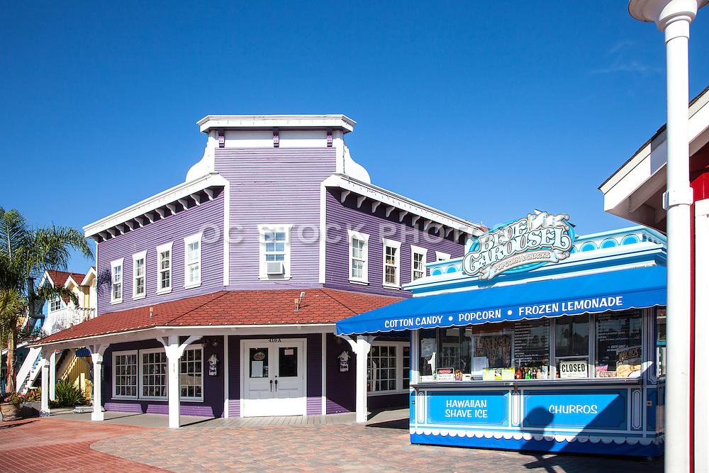 Blue Carousel Popcorn Snacks At Shoreline Village In Long Beach