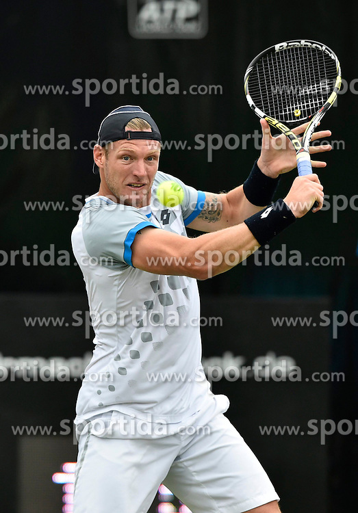 10.06.2015, Tennis Club Weissenhof, Stuttgart, GER, ATP Tour, Mercedes Cup Stuttgart, im Bild Sam Groth (AUS) Aktion // during the Mercedes Cup of ATP world Tour at the Tennis Club Weissenhof in Stuttgart, Germany on 2015/06/10. EXPA Pictures &copy; 2015, PhotoCredit: EXPA/ Eibner-Pressefoto/ Weber<br /> <br /> *****ATTENTION - OUT of GER*****