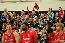 Bristol Flyers fans - Photo mandatory by-line: Dougie Allward/JMP - Mobile: 07966 386802 - 13/03/2015 - SPORT - Basketball - Bristol - SGS Wise Campus - Bristol Flyers v Leicester Riders - British Basketball League