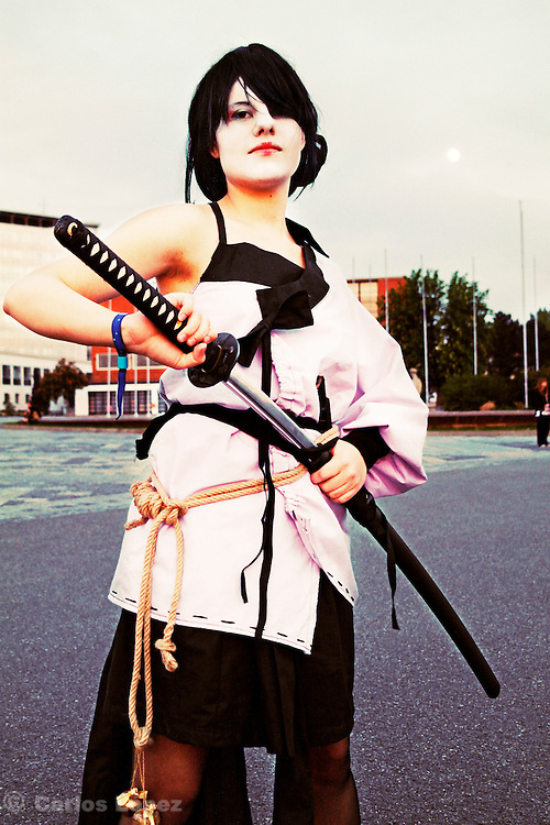 Cosplayer at the Anime fest 2012 in the city of Brno. Animefest is the oldest and largest anime and manga convention in the Czech Republic with around 2000 attendees in 2012.