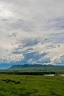 Yellowstone River, Sheep Mountain, east of Livingston, Montana
