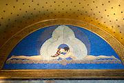 Mosaik im Hochzeitsturm, Mathildenhöhe, Jugendstil, Darmstadt, Hessen, Deutschland | mosaic and wall painting in Hochzeitsturm, Centre of Art Noveau on Mathildenhoehe, Darmstadt, Germany