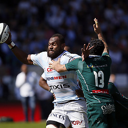 Leone Nakarawa of Racing 92 and Julien Fumat of Pau during the Top 14 match between Racing 92 and Section Paloise Pau on April 9, 2017 in Colombes, France. (Photo by Johnny Fidelin/Icon Sport)