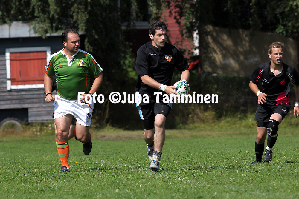 4.8..2012, Hämeenlinna, Finland..SRL 1. divisioona 2012. .Linna Rugby Club - Pori Bombers