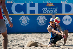 25-08-2019 NED: DELA NK Beach Volleyball, Scheveningen<br /> Last day NK Beachvolleyball / Alexander Brouwer #1