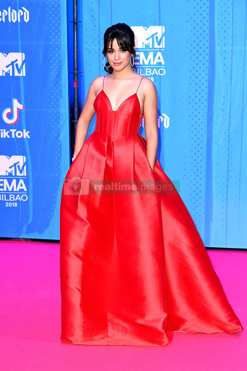 Camila Cabello attending the MTV Europe Music Awards 2018 held at the Bilbao Exhibition Centre, Spain