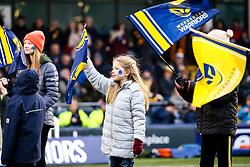 Worcester Warriors flag bearers - Mandatory by-line: Robbie Stephenson/JMP - 25/01/2020 - RUGBY - Sixways Stadium - Worcester, England - Worcester Warriors v Wasps - Gallagher Premiership Rugby