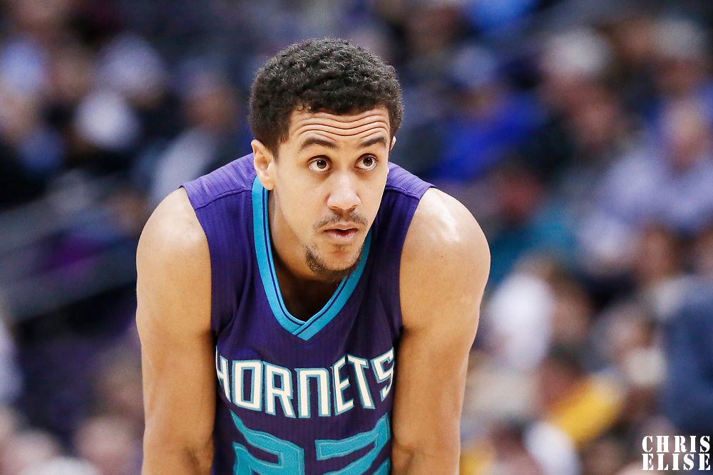 04 March 2017: Charlotte Hornets guard Brian Roberts (22) rests during the Charlotte Hornets 112-102 victory over the Denver Nuggets, at the Pepsi Center, Denver, Colorado, USA.