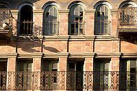 Mission Inn Wrought Iron Balcony External Architecture, Riverside, California