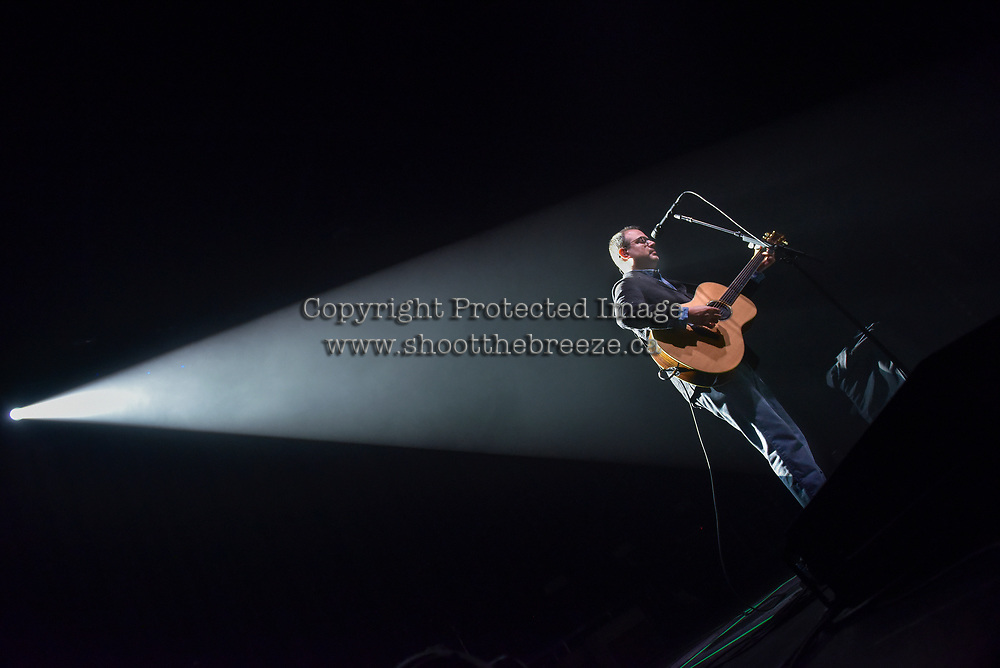 KELOWNA, CANADA - MARCH 30:  Matt Good performs an acoustic version of Apparitions from his 1999 record Beautiful Midnight for his opening song during a performance on March 30, 2018 at Prospera Place in Kelowna, British Columbia, Canada.  (Photo by Marissa Baecker/Shoot the Breeze)  *** Local Caption ***