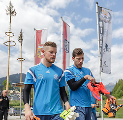 03.06.2015, Steinbergstadion, Leogang, AUT, U 21 EM, Vorbereitung Deutschland, im Bild v.l.: Timo Horn (1. FC Koeln, Deutschland U21) und Marius Mueller (1. FC Kaiserslautern, Deutschland U21) // during Trainingscamp of Team Germany for Preparation of the UEFA European Under 21 Championship at the Steinbergstadium in Leogang, Austria on 2015/06/03. EXPA Pictures © 2015, PhotoCredit: EXPA/ JFK