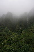 Waterfalls, Koolau Mountains, Oahu, Hawaii