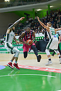 Yorman Polas Bartolo of Telekom Baskets Bonn and defense of Alade Aminu and Myles Hesson of Nanterre 92 team during the Champions League, Group D, basketball match between Nanterre 92 and Telekom Baskets Bonn on January 24, 2018 at Palais des Sports Maurice Thorez in Nanterre, France - Photo I-HARIS / ProSportsImages / DPPI