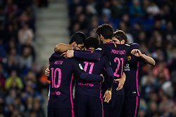 April 29, 2017 - Barcelona, Spain - BARCELONA, SPAIN. APRIL 29TH, 2017 - FC Barcelona celebrates the second goal during La Liga Santander matchday 35 game between Espanyol and FC Barcelona. RCDE Stadium. Photo by EALO | PHOTO MEDIA EXPRESS (Credit Image: © Ealo/VW Pics via ZUMA Wire/ZUMAPRESS.com)
