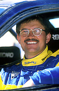 New Zealand Rally driver Possum (Peter) Bourne in between stages of the NZ Rally Championships 1998. Photo: Jeff Crow/Photosport.co.nz