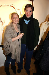 HARRY & LAURA LOPES she is the daughter of HRH The Duchess of Cornwall at a private view of 'Works on Paper' by various artists held at Eleven, 11 Eccleston Street, London SW1 on 10th January 2007.<br />