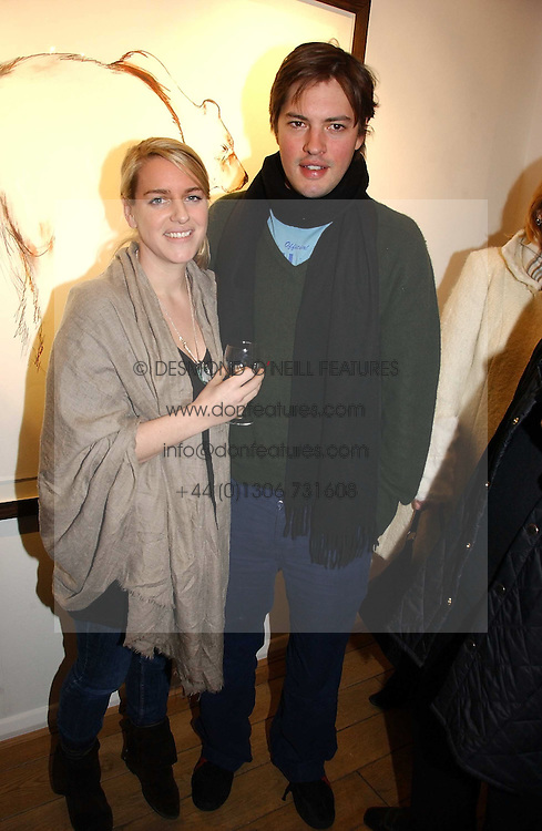 HARRY & LAURA LOPES she is the daughter of HRH The Duchess of Cornwall at a private view of 'Works on Paper' by various artists held at Eleven, 11 Eccleston Street, London SW1 on 10th January 2007.<br /><br />NON EXCLUSIVE - WORLD RIGHTS