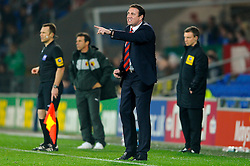 Cardiff Manager Malky Mackay (SCO) issues instructions to his players from the sideline as Watford Manager Gianfranco Zola (ITA) looks on during the second half of the match - Photo mandatory by-line: Rogan Thomson/JMP - Tel: Mobile: 07966 386802 23/10/2012 - SPORT - FOOTBALL - Cardiff City Stadium - Cardiff. Cardiff City v Watford - Football League Championship