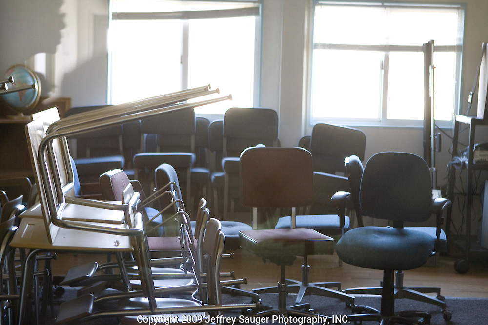 The empty Educational Building at Deerfield Correctional Facility after the last 33 of 1,200 prisoners were transported out of the closing prison in Ionia, MI, Friday, March 20, 2009. The prisoners were transferred to West Shoreline Correctional Facility in Muskegon, MI.