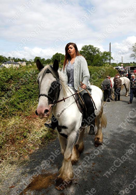 24/6/13 Enjoying the sun at the Spancilhill Horse Fair. Pic Tony Grehan / Press 22