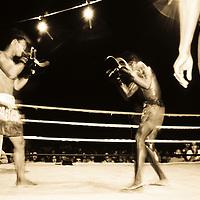 Muay Thai Kick boxing, Rae Leh Beach, Thailand